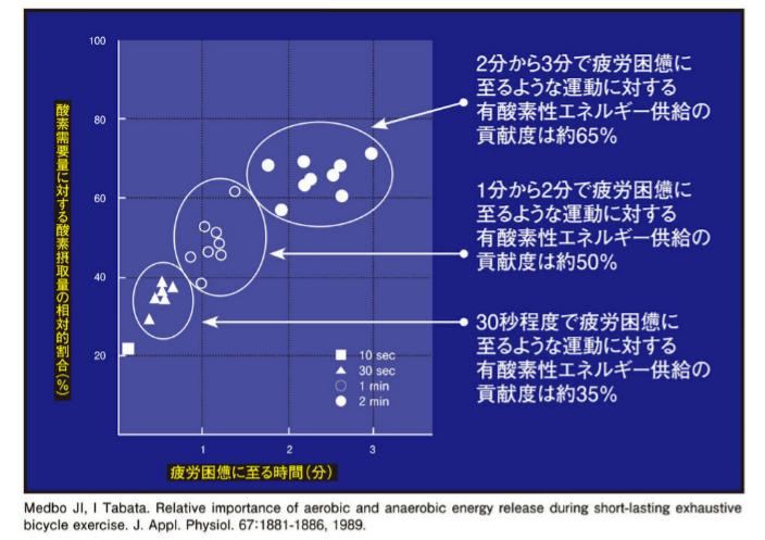 有酸素性・酸素性対比表